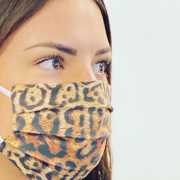 Leopard Print Fashionable Face Mask