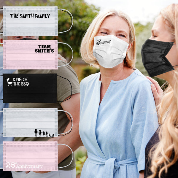 Disposable Personalised Face Masks - From 59p Per Face Mask