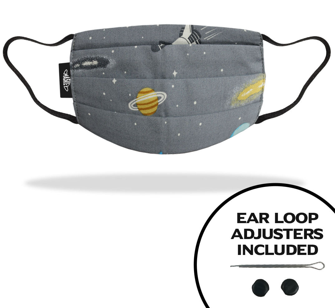 Kids Grey Spaceship Face Mask