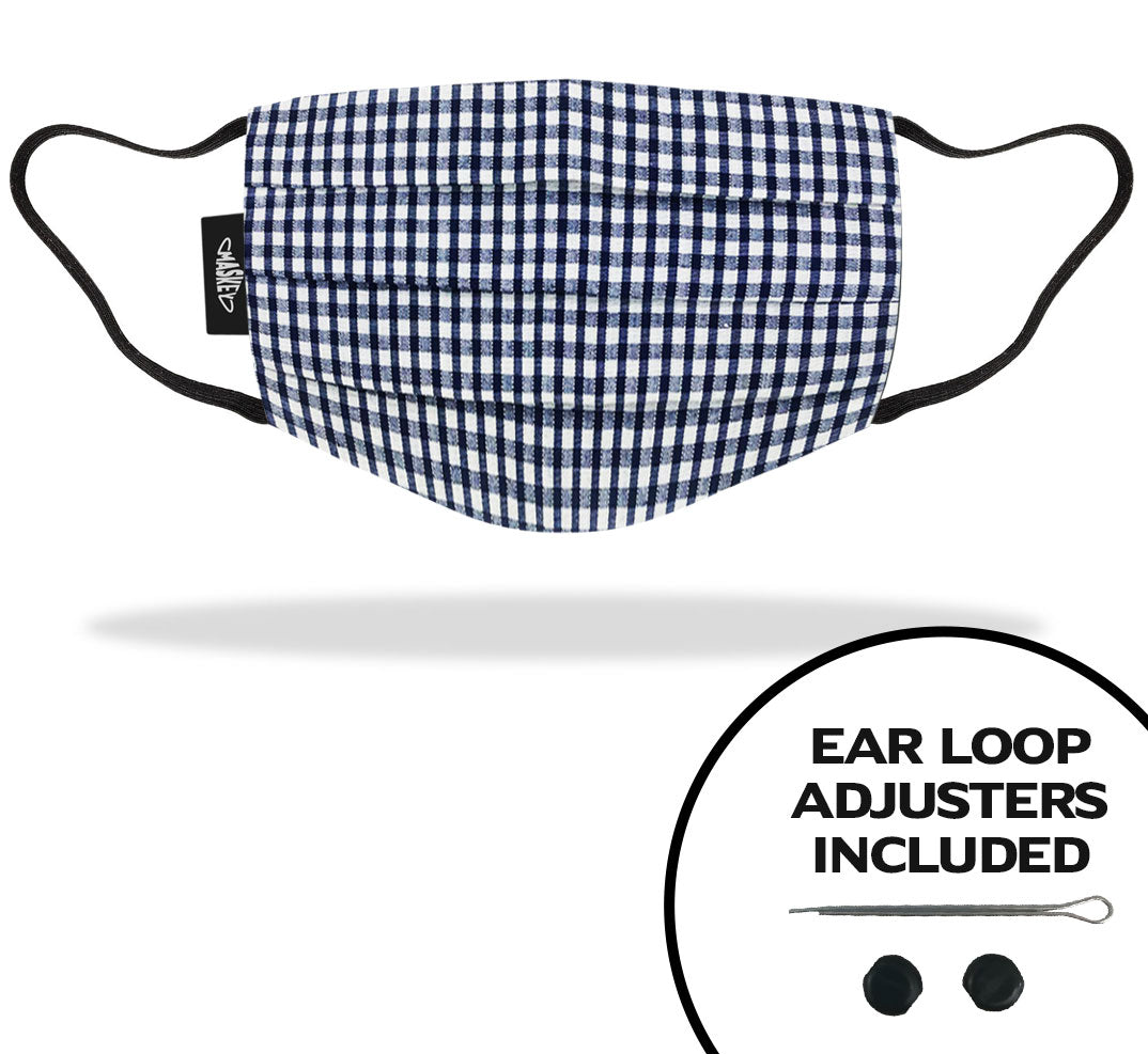 *REDUCED PRICE FOR LIMITED TIME* | Navy Gingham Face Mask