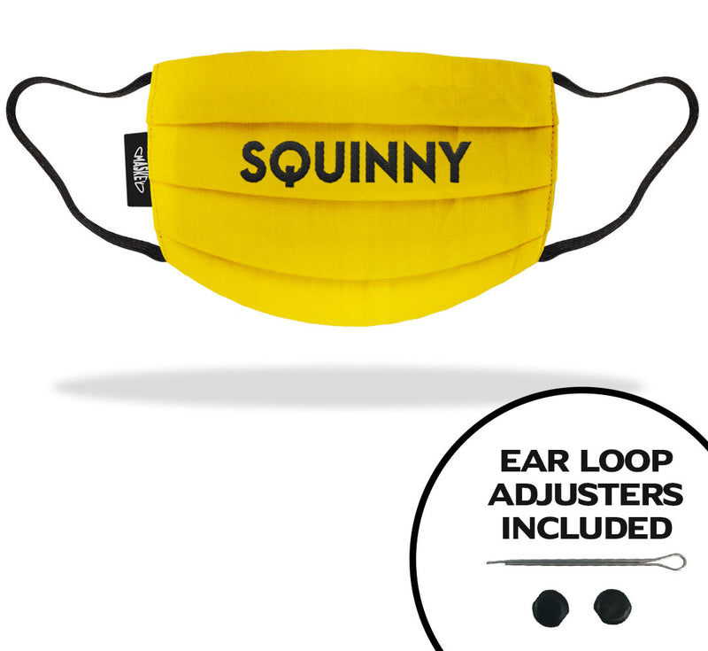 Squinny Face Covering | Strap Adjusters included for the Perfect Fit