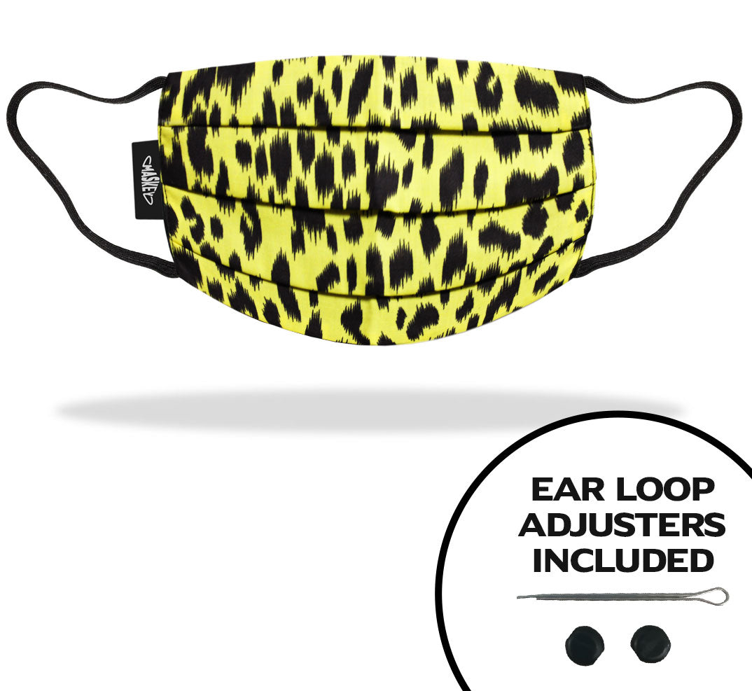 Yellow Leopard Print Face Mask