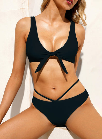 Brazilian Tied Push Up Bikini Swimsuit