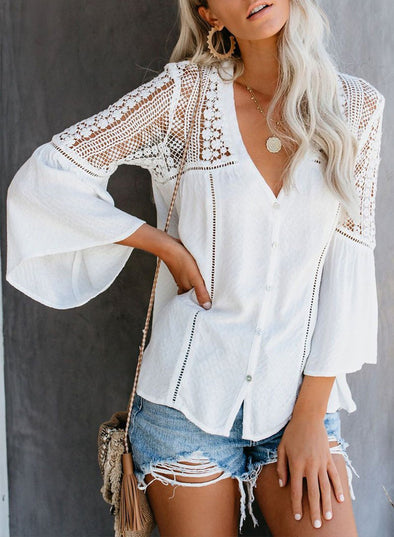 The Du Jour Crochet Blouse