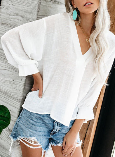 Long Walks on The Beach Blouse