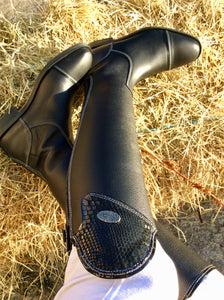 Buataisi Long Leather Black Riding Boot