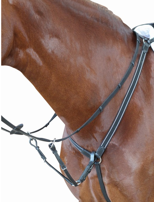 Kincade elastic breastplate with running martingale attachment