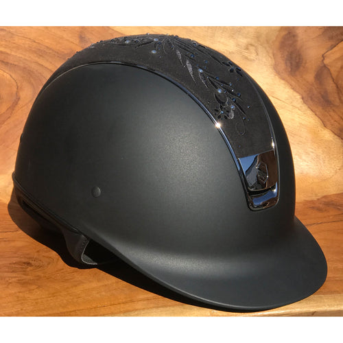 Samshield Shadowmatt Flower Swarovski Majestic Black Riding Helmet