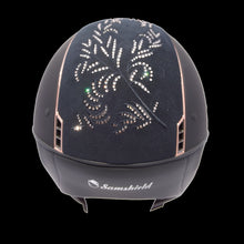Load image into Gallery viewer, Samshield Rose Gold Swarovski Flower Riding Hat