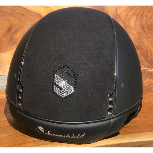 Samshield Shadowmatt Black Alcantara Shield Design Riding Hat