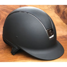 Load image into Gallery viewer, Samshield Black Shadowmatt Shimmer Titanium Riding Helmet