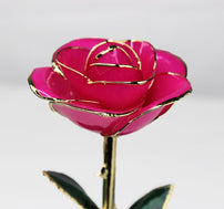 24K Gold Dipped Rose (Rose Red)