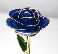 24K Gold Dipped Rose (Blue)