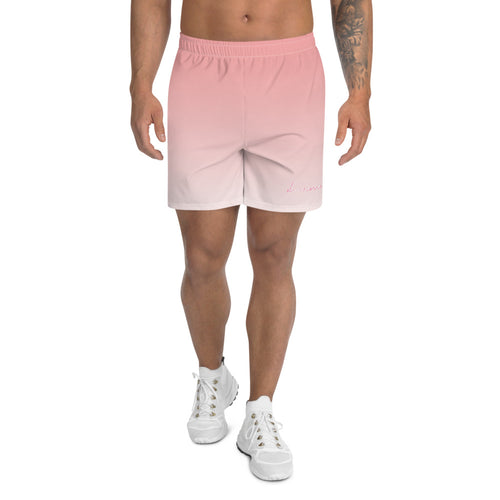 DRAMA: Athletic Long Shorts for all | Pink Gradient