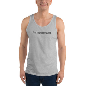 TALK TO ME AFTER YOGA: Tank top for all | multiple colors