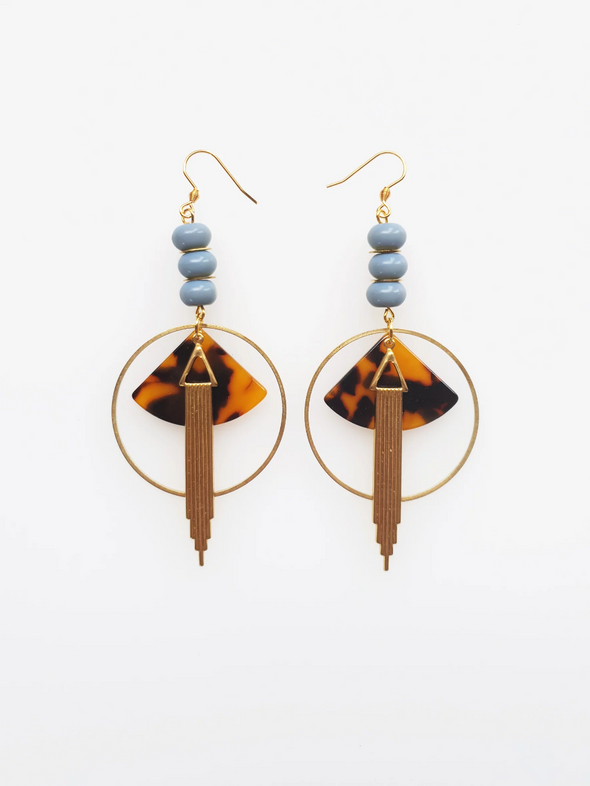 Empire Earrings - Tortoise