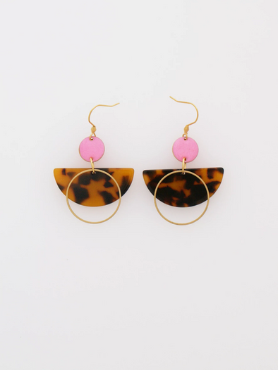 Corsair Earrings - Tortoise/Pink