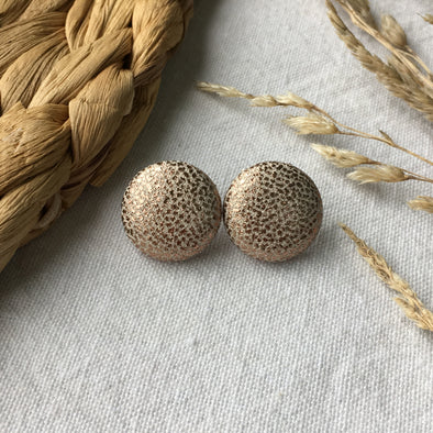 Button Earring - Blush Shine