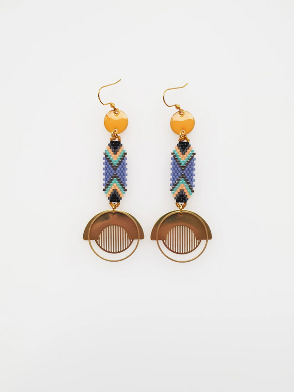 Palais Earrings - Orange
