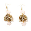 Alexa Earring - Pale Pink, Chunky Gold Glitter + Rose Gold