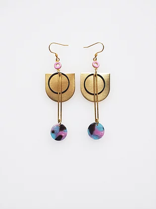 Cunningham Earrings - Pink