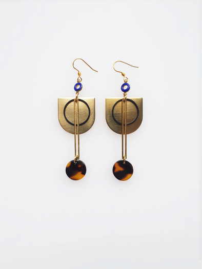 Cunningham Earrings - Tortoise