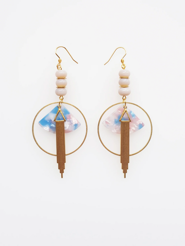 Empire Earrings - Blue