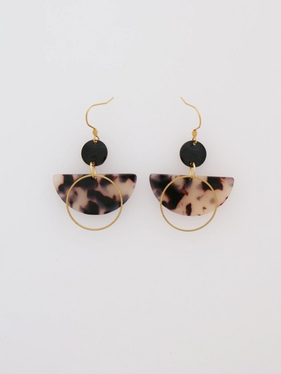 Corsair Earrings - Natural/Black