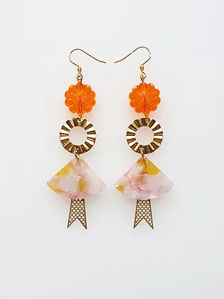 Ceremony Earrings - Orange