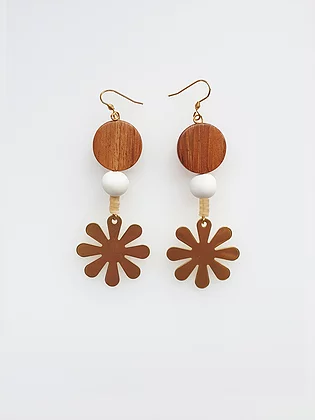 Florin Earrings - White