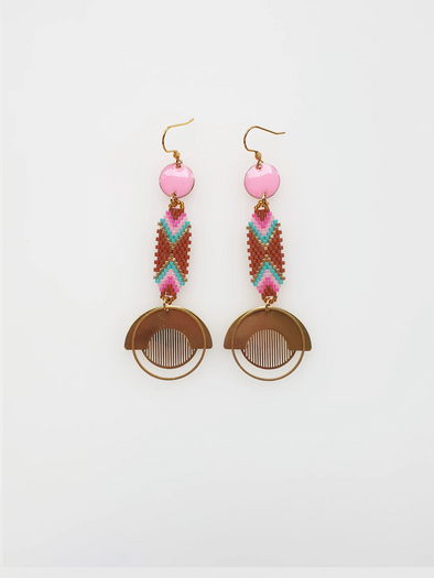 Palais Earrings - Pale Pink