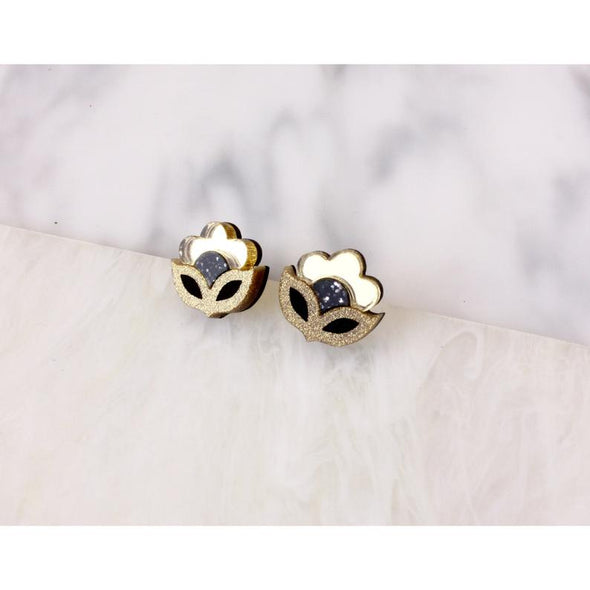 Flora Mini Stud - Gold