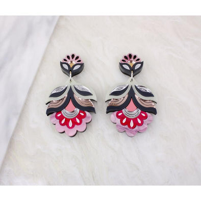 Flora Statement Earring - Sunset