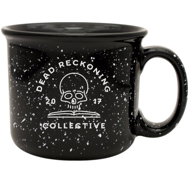 Skull & Book Coffee Mug