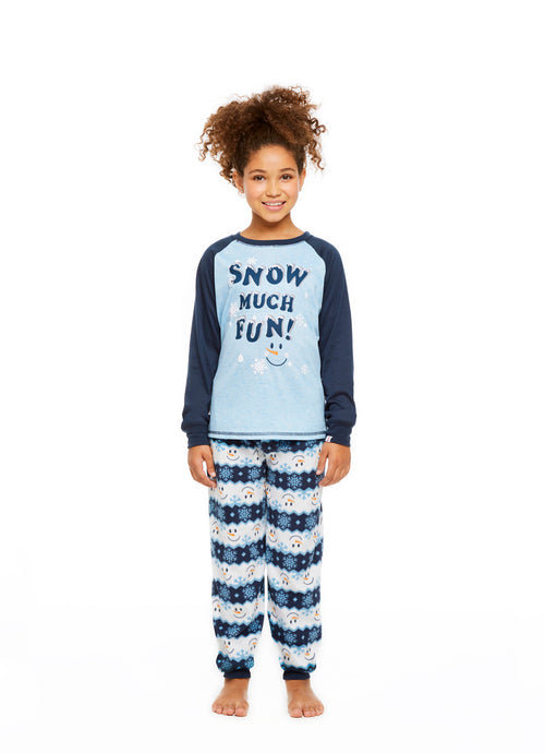 Family Holiday Pajamas, Girls 2-Piece Pajama Set, Winter Wonderland