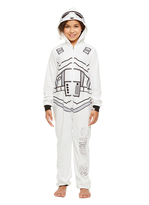 Star Wars Family Pajamas, Kids Storm Trooper Blanket Sleeper Onesie