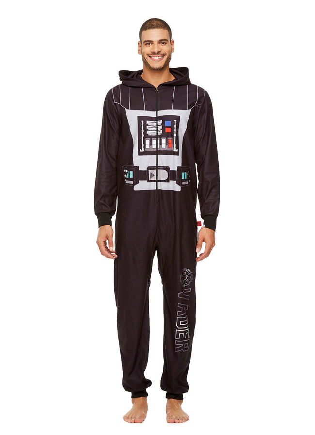 Star Wars Family Pajamas, Mens Darth Vader Blanket Sleeper Onesie