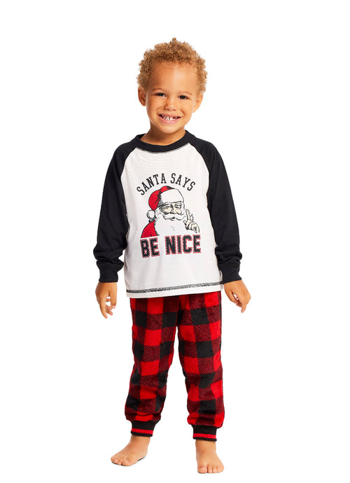 Pajama 2 Piece PJ Set Santa Claus
