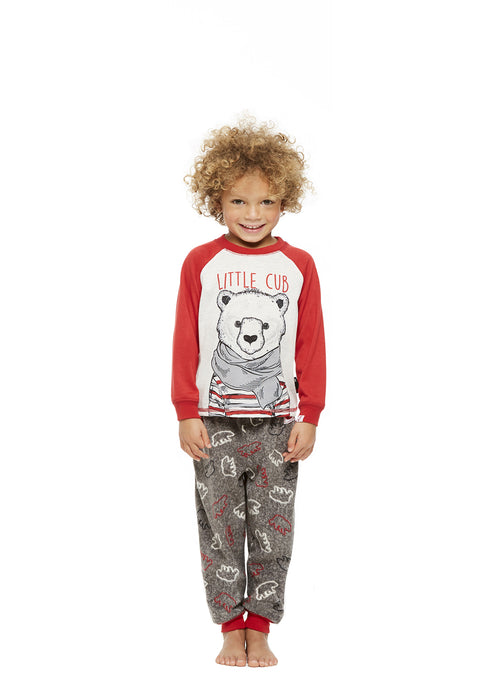 Family Holiday Pajamas, Toddlers 2-Piece Pajama Set with Knit Hat, Bearly Awake