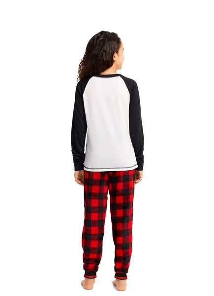 Girls Pajama 2 Piece Set Santa Claus