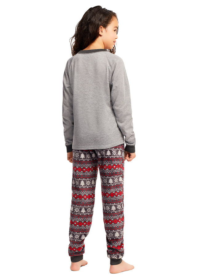 Christmas Matching Family Pajamas - Cabin Cozy - 2 Piece PJ Set - Girls