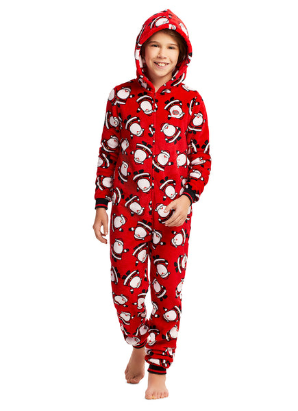 Christmas Matching Family Pajamas - Red Santa - Onesie - Boys & Girls Unisex