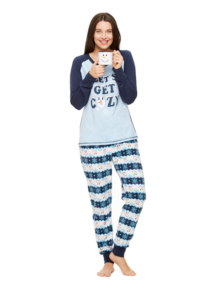 Family Holiday Pajamas, Womens 2-Piece Pajama Set with Mug, Winter Wonderland