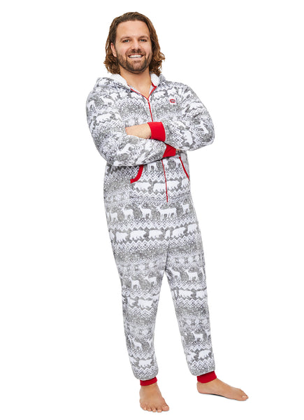 Christmas Matching Family Pajamas - Wild & Fairisle - Mens Onesie