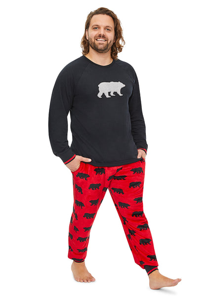 Mens 2-Piece PJ Set Bear