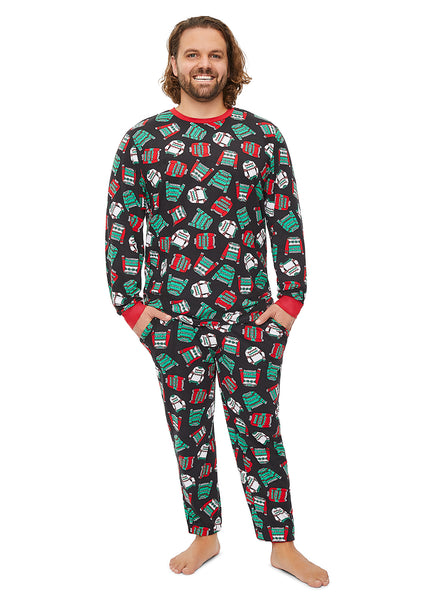 Mens 2-Piece PJ Set Ugly Sweater