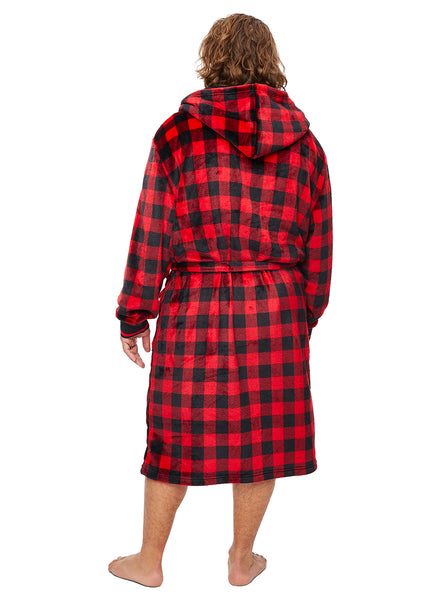 Family Let's Get Cozy Matching Robes - Mens Plaid Robe