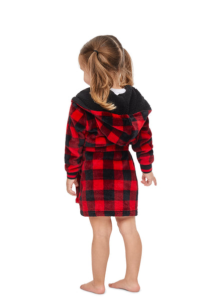 Toddler Plaid Robe