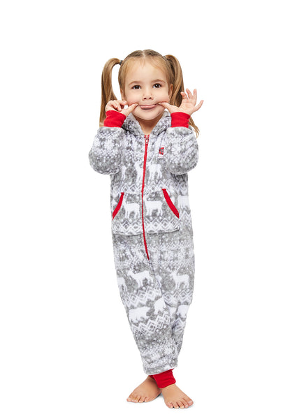 Christmas Matching Family Pajamas - Wild & Fairisle - Toddler Onesie
