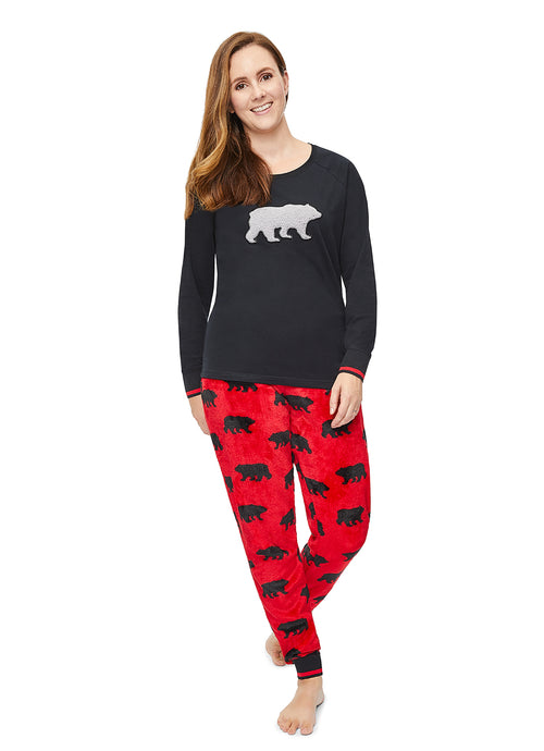 Christmas Matching Family Pajamas - Beary Merry - Womens 2-Piece PJ Set